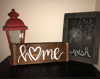 Rustic Home With Heart Sign