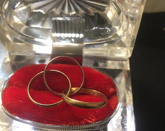 Triple ladies 18kt and white gold ring