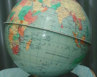 Vintage World Globe Raths Politischer Erdglobus GDR