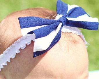 Baby Bow, Nautical Style Hair Bow