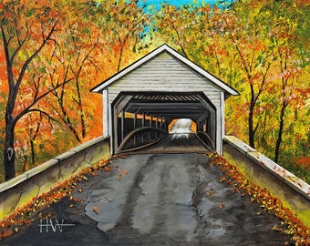 Autumn Covered Bridge (unframed)
