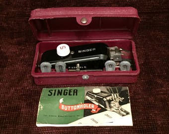 Singer Buttonholer in box with attachments