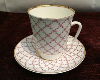 Lomonosov Tea Cup & Saucer made in USSR