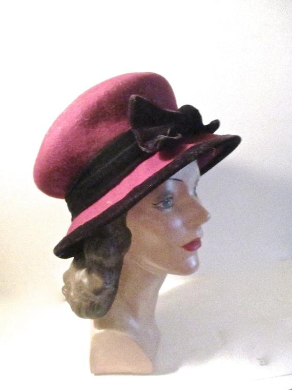 Vintage Black Velvet Woman\u2019s Bucket Hat