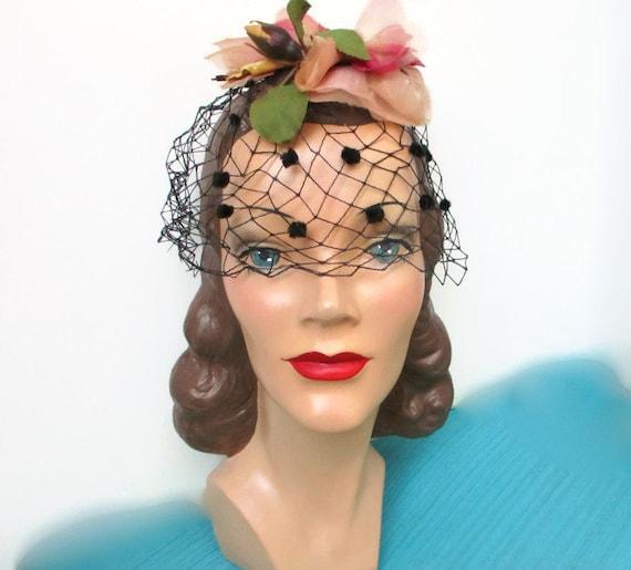 Petal Fascinator Hat Pink Peach Rose Bridal Weddin