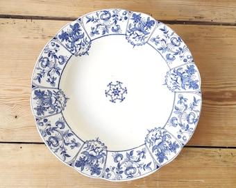 Vintage English/Daventry Hollow Plate/Royal/Blue & White Porcelain/Royal Ridgways Daventry/Victorian 1890