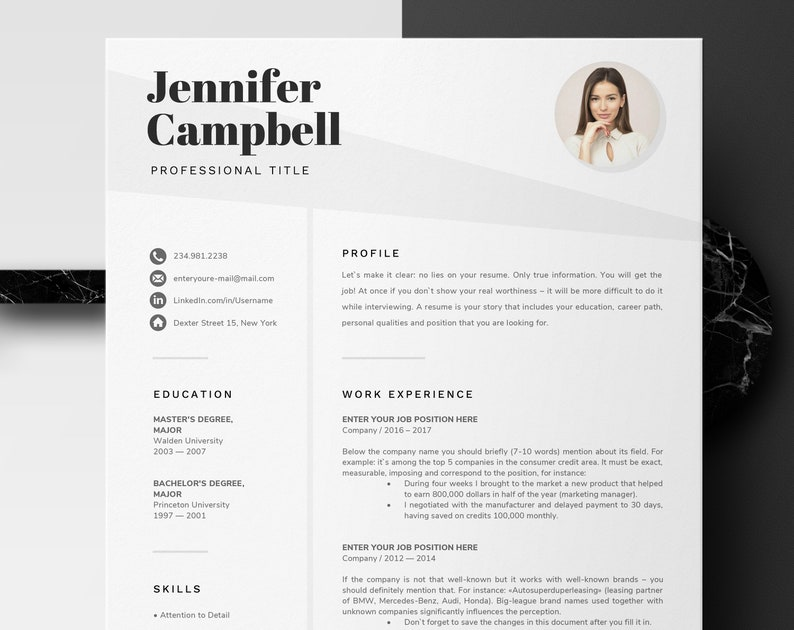 Microsoft Word Resume Template Creative Design With