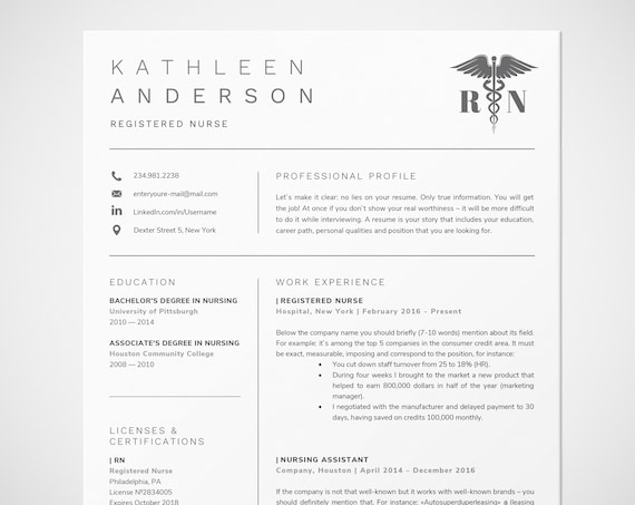 registered nurse resume template for word nursing resume