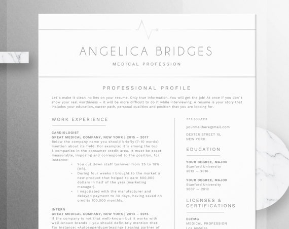 registered nurse resume template word medical cv nurse cv etsy