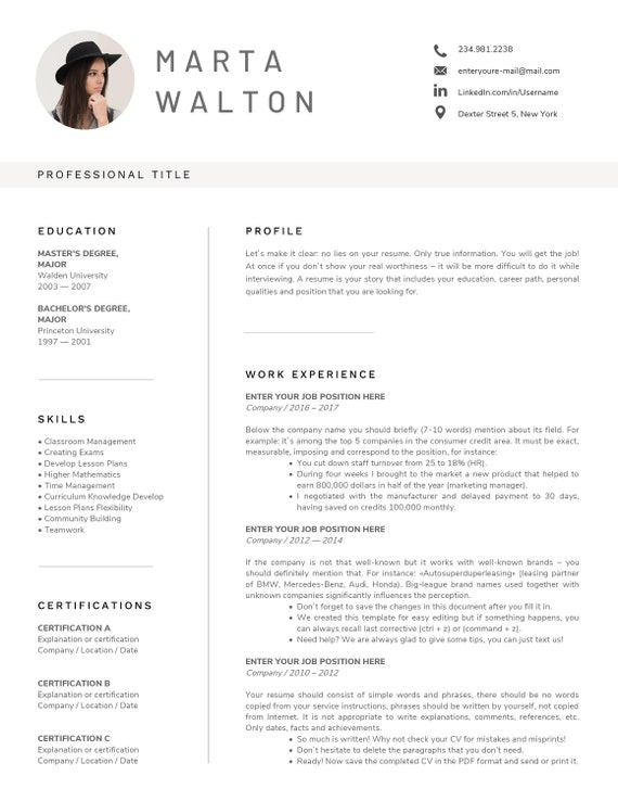 Creative Resume Template Word Teacher Resume With Photo Executive Resume Retail Sales Cv Template Hospitality Administrative Assistant