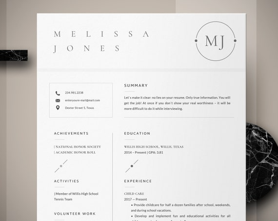 Resume Template For Students Resume For First Job College Resume Grad School With No Work Experience High School Students Cover Letter