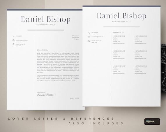 Executive Resume Template, CV Template + Cover Letter | Professional Cv  Design | Resume Word | Einfacher Zugriff auf digitalen Sofort-Download