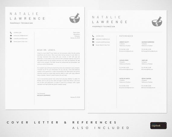 Pharmacy Technician Resume Template for Word | Pharmacist Resume, CPHT |  Pharmacy Tech Cv Template, Pharmacy Assistant, Pharmacy Graduation