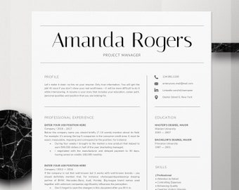 Resume Template | CV Template | Professional Resume Template | Resume Template Word | Creative Resume Template | Modern Resume Template