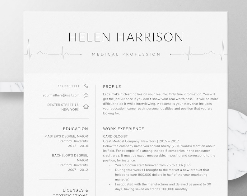 Nurse Resume Template For Word Nursing