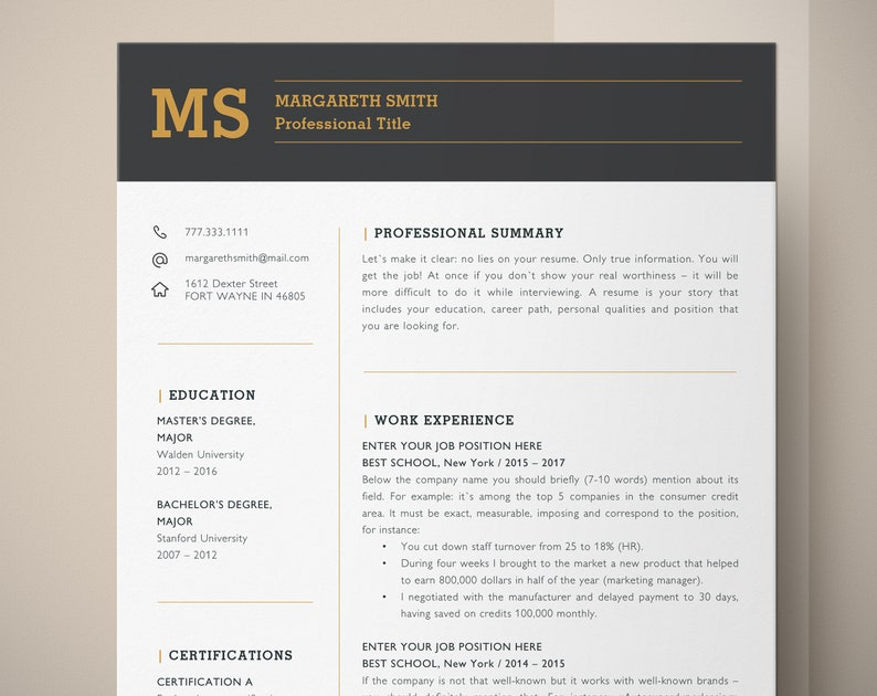 Principal Resume Template For Word CV Teacher Educator Assistant High School