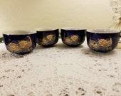 Satsuma peacock sake cups