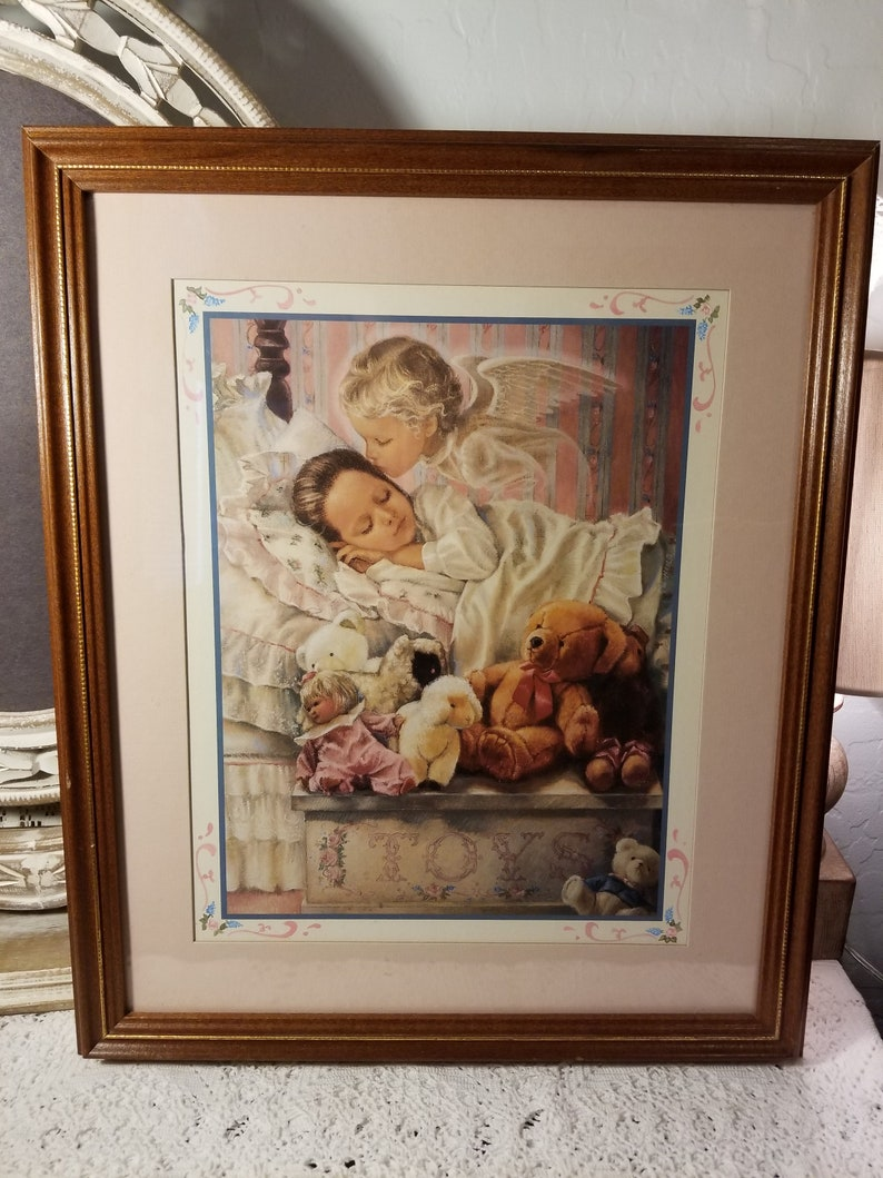 Home Interiors Gifts Sleeping Angel And Girl Picture