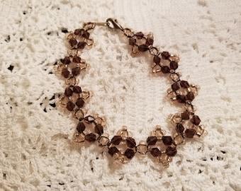Swarovski crystal woven bracelet