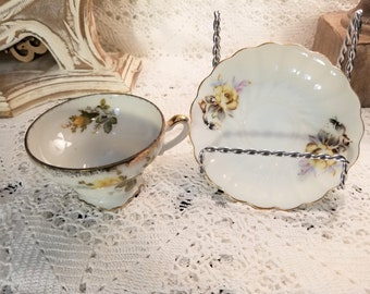 Ucagco floral tea cup and saucer