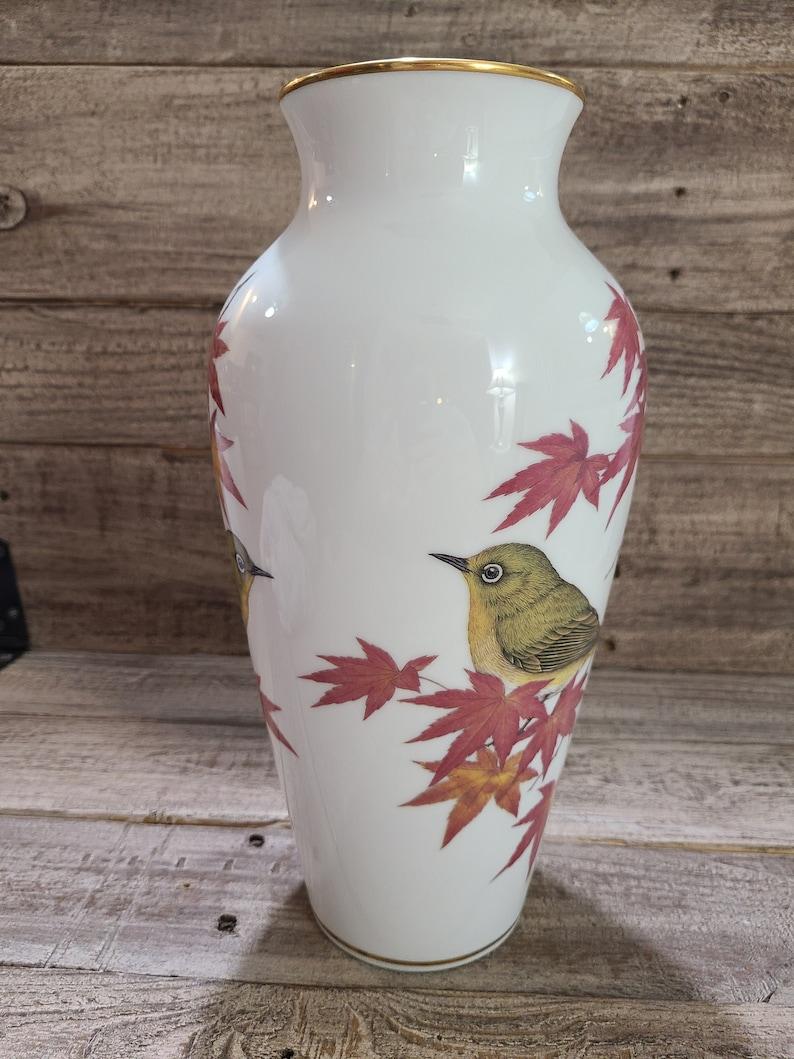 Franklin Porcelain Companion Of Autumn vase