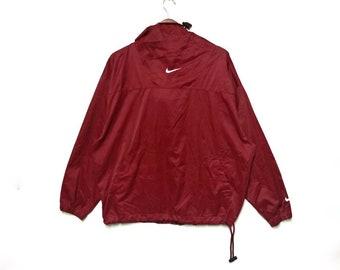 afc3e7529a78 Vintage Nike Swoosh Small Logo Embroidery Hoodie Raincoat Windbreaker