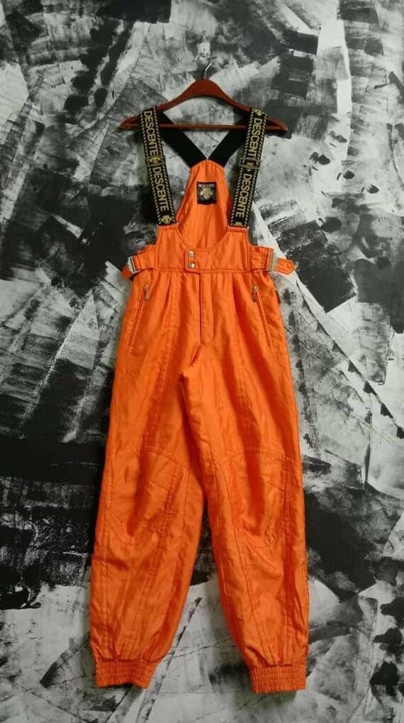 Descente Ski Wear Pants Overall Orange