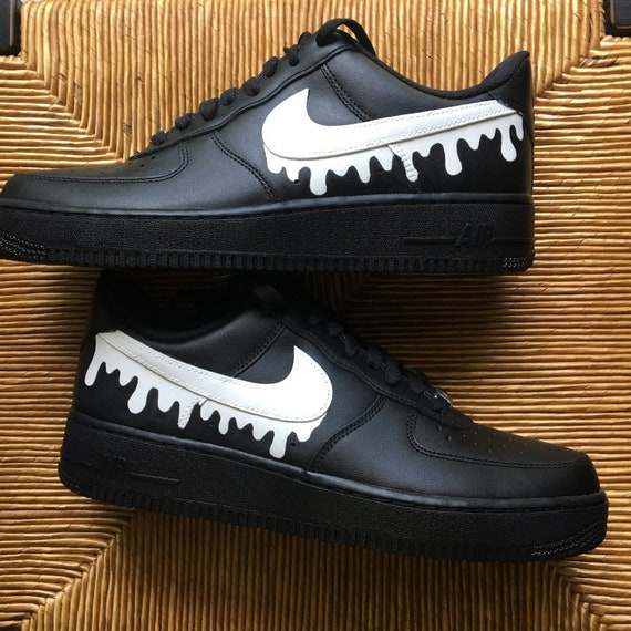Custom Hand Painted Nike Air Force 1 Drip Scarpe Opzioni di