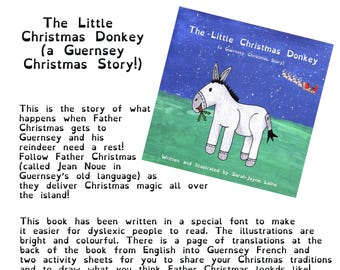 The Little Christmas Donkey (a Guernsey Christmas Story) illustrated children's book