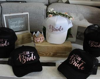 f075cc3bc Team bride hats   Etsy