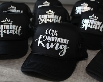 60th Birthday Custom Trucker Hat Gift For Him Hats Dad Party