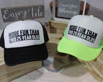 50th Birthday Hat Gift Trucker For Her Custom Hats BirthdayCustom