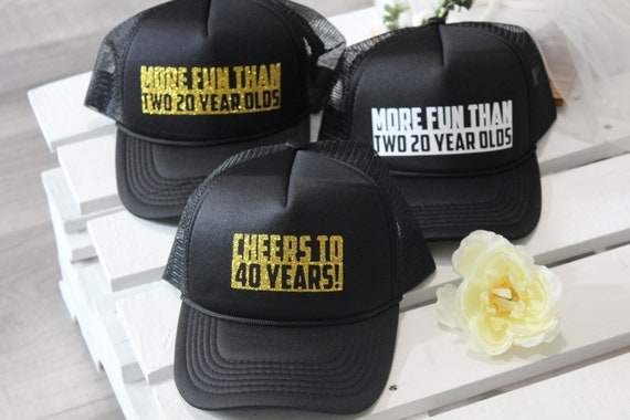 40th Birthday Hat Trucker Custom Hats