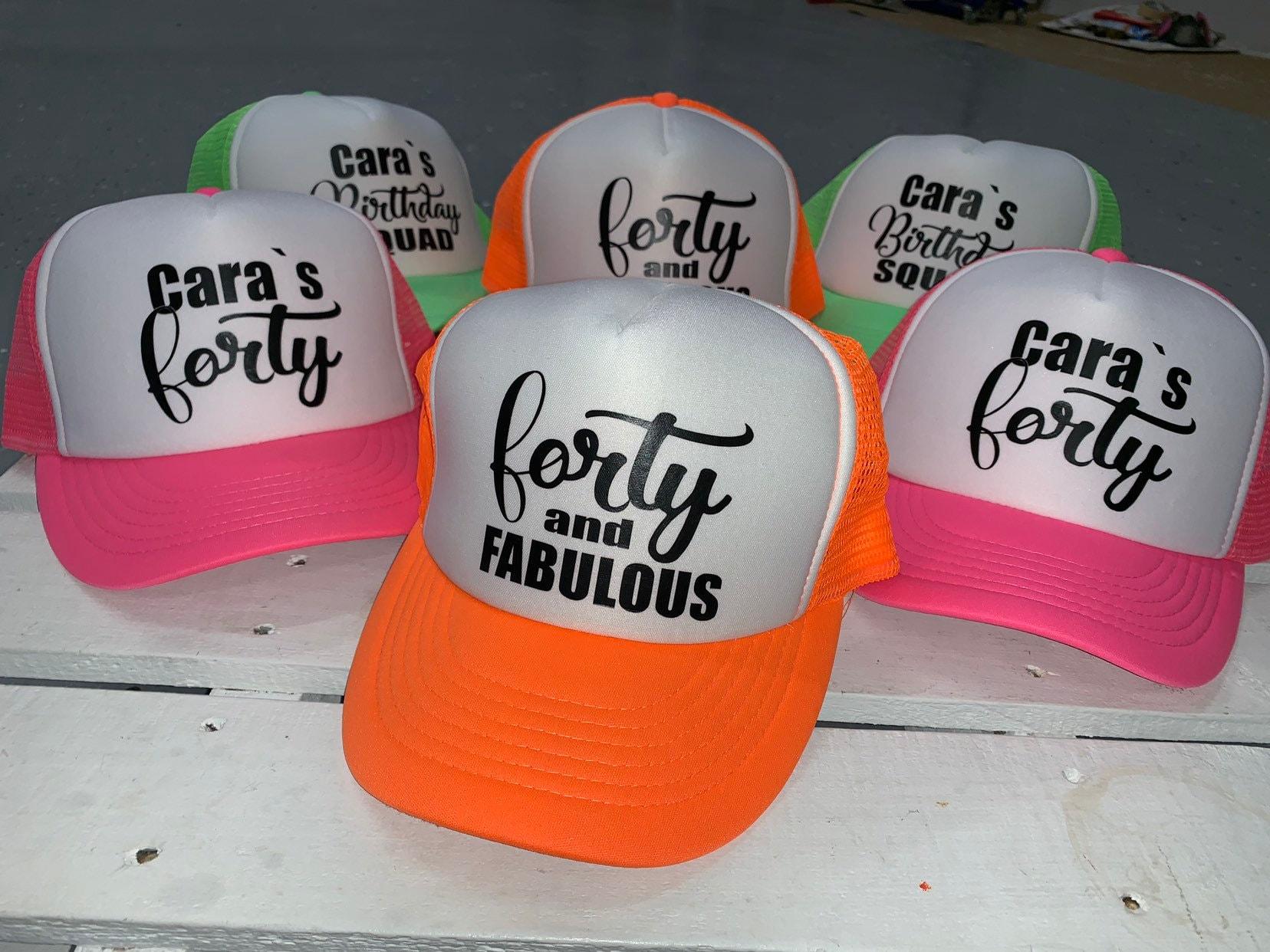 Birthdy Hats 40th Birthday Party HAts 40th Birthday Hat,Trucker Hats CUSTOM HATS 40th Birthday Ideas 40th Birthday Gift for Women Hats