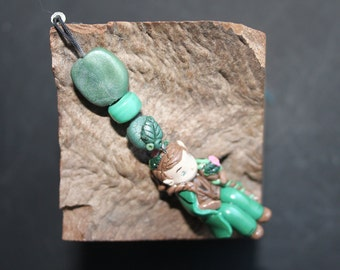 handbag clasp polymer clay wood Elf