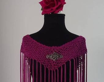 Mantoncillo of flamenco to Crochet color bougainvillea straight line (Ref M-7)