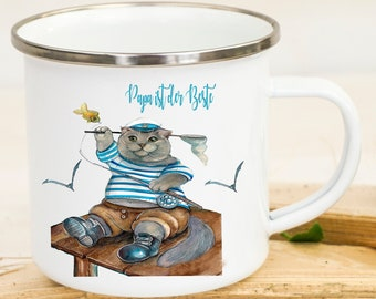 Tasse Becher Katze Kater Kleiner Angler Träumen Kaffeetasse Geschenk Ts961 Trinklerntassen & -becher