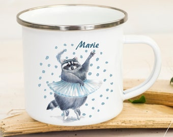 Kindergeschirr & -besteck Tasse Becher Kaffeebecher Geschenk Kaffetasse Waschbär Spruch Moin Mama Ts655