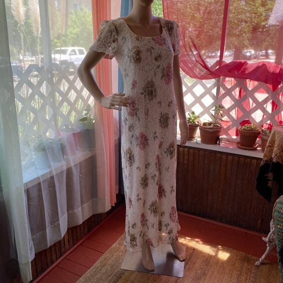Vintage Giorgio Sant Angelo Floral Dress