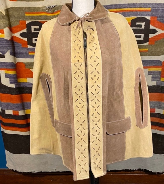Amazing Suede Poncho/Cape