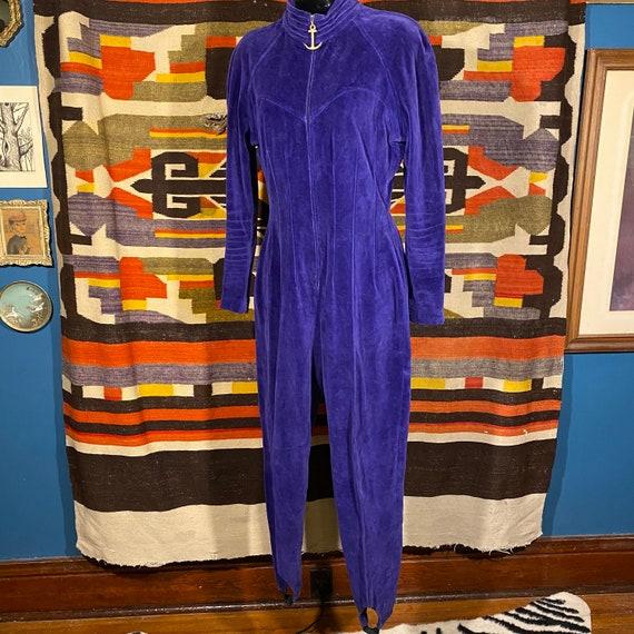Foxy Purple Velvet Bodysuit