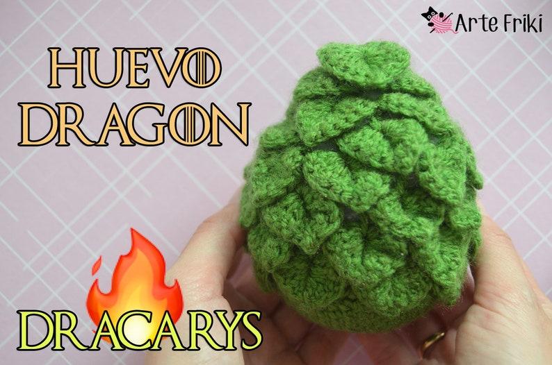 Huevo Dragón Amigurumi PATRÓN image 0