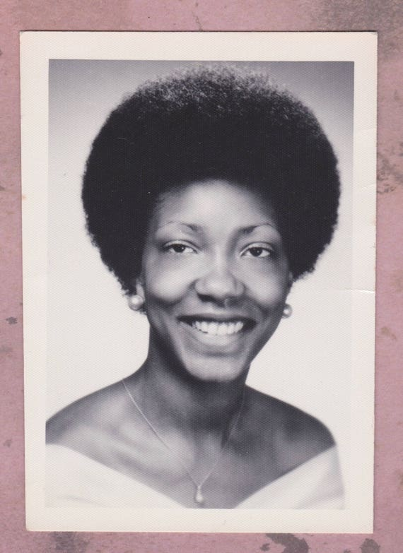 Vintage Photo 1972 School Picture Student African American Etsy