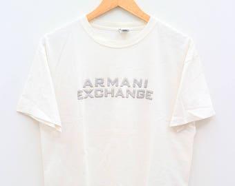 ARMANI EXCHANGE Big Spell White Vintage Tee T Shirt Size M