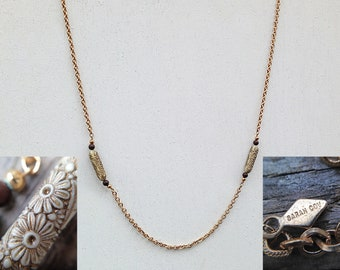 Sarah Coventry Gold Tone Station Floral Necklace