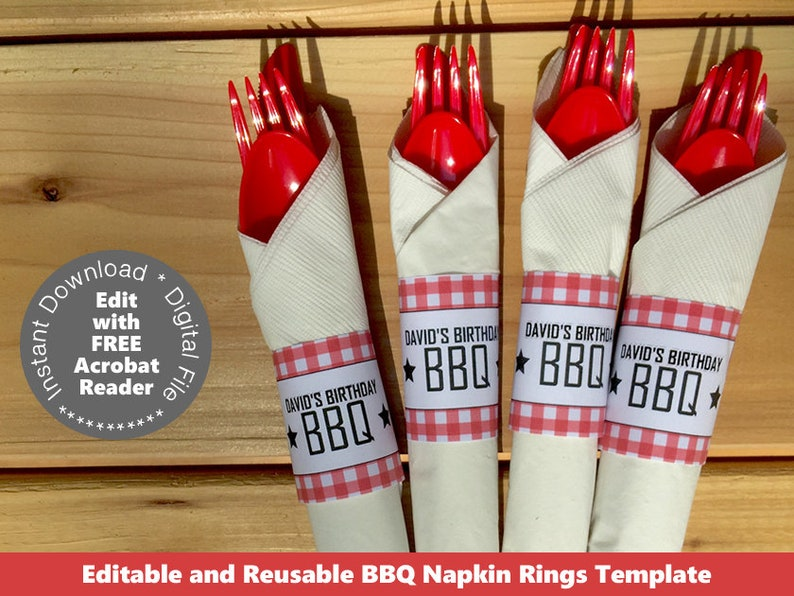 picture about Printable Napkin Rings Template titled Printable Backyard garden BBQ Napkin Ring Template BBQ Napkin Holder Summer season BBQ Bbq Bash Barbecue Occasion Barbecue Decorations Down load pwl8