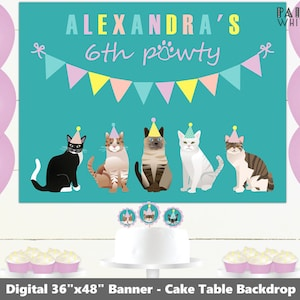 Pink Dog Birthday Backdrop Printable Digital File Banner Dog Party Banner Girls Birthday Party Decor Adopt a Puppy Party Decorations PWL20