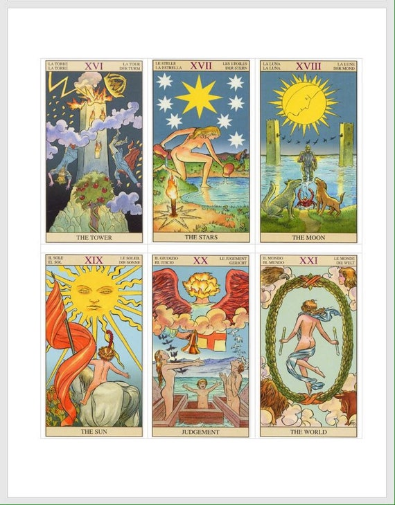 Tarot Deck Interpretation Spreads. Instant Download Wicca