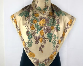 Alesandra Bagni silk scarf vintage scarves gift for her R size 34 inches