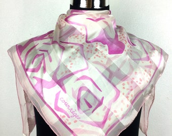 0373a3d195e Courreges silk scarf vintage scarves gift for her c300 size 34
